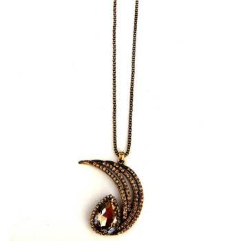 Half moon long Necklace/JW-675