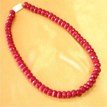 Real Ruby Single Line Necklace