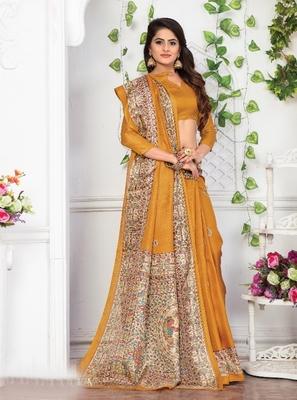 multicolor plain khadi saree with blouse