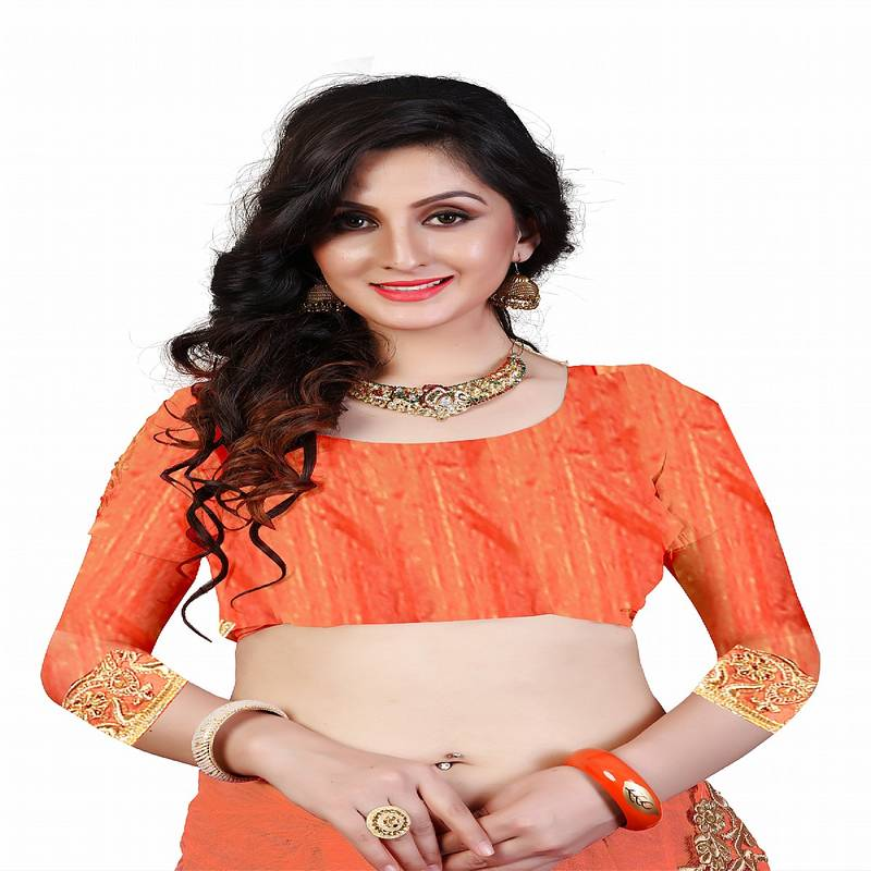 b161d71e0b4 Coral embroidered net saree with blouse - Tiana Creation - 2575515