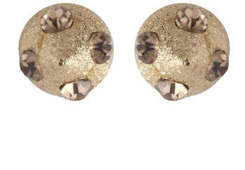 Brown Gold  Plated Stud