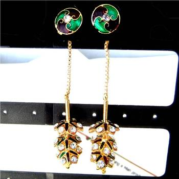 Needle thread earrings/JW-711