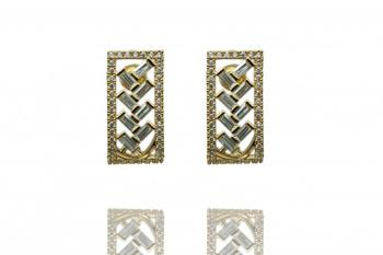 Gold Rhodium Polish Plated Earrings
