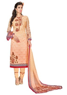 Multicolor printed cotton salwar