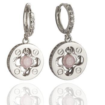 Rhodium Polish Plated Earrings