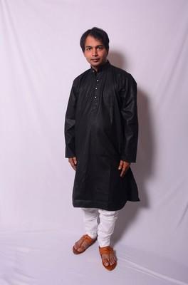 Black And White Indo Western Kurta  Pajama