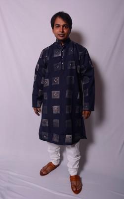 Blue And White Indo Western Kurta  Pajama