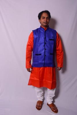 Blue Indo Western Jacket