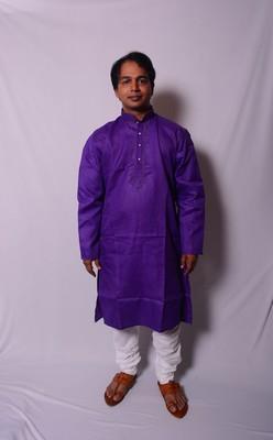 Purple And White Indo Western Kurta  Pajama