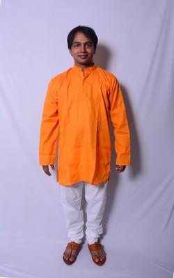 Yellow And White Indo Western Kurta  Pajama