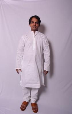 White And White Indo Western Kurta  Pajama