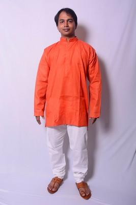 Orange And White Indo Western Kurta  Pajama