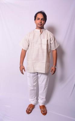 Cream Indo Western Kurta