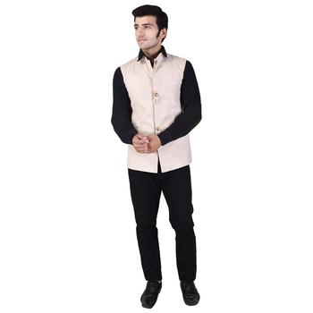 Beige Cotton Linen Modi Jacket