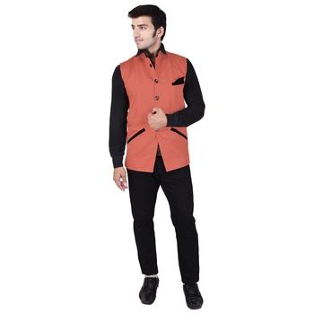 Orange Cotton  Modi Jacket
