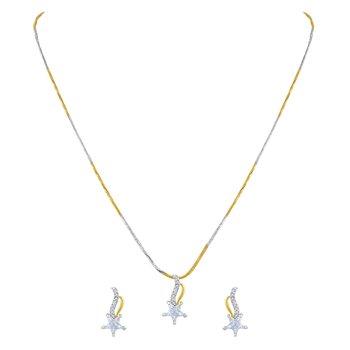 Alluring Heart Shape Gold Plated Pendant Set For Women