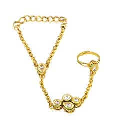 Lavish Gold Plated Designer Hathphool For Women
