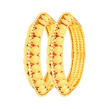 Youthful Laxmi Coin Gold Plated Bangle Set For Women