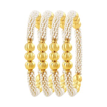 Incredible Gold Plated Set Of 4 Bangles For Women