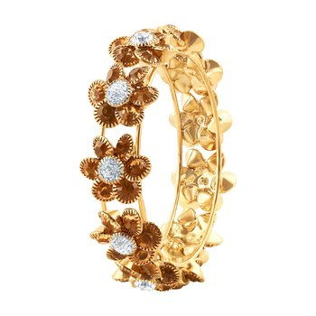 Astonish Party Wear Gold Plated Lct Stone Kada For Women