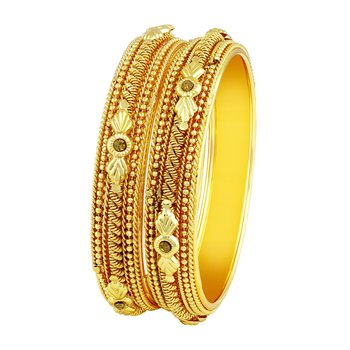 Marvellous Traditional Gold Plated Lct Stone Bangles For Women