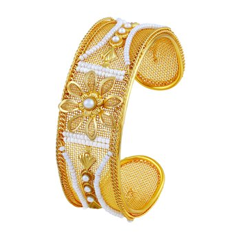 Pleasing Fancy Gold Plated Kada For Women