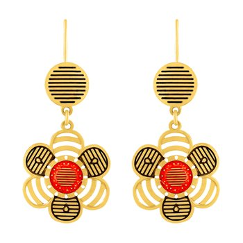 Ethnic Hanging Gold Plated Earring For Women