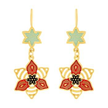 Royal Hanging Gold Plated Earring For Women
