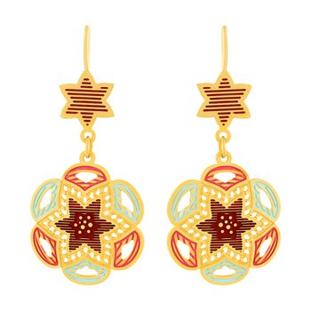 Glorious Hanging Gold Plated Earring For Women