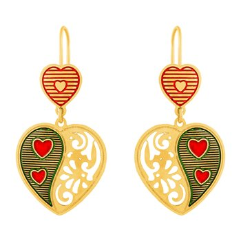 Shimmering Hanging Gold Plated Earring For Women