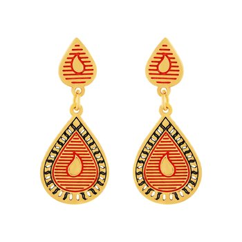 Astonishing Hanging Gold Plated Earring For Women