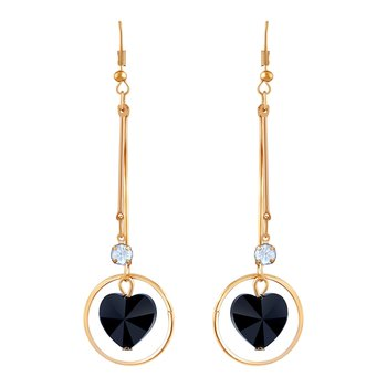 Stylish White Stone Gold Plated Drop Earring For Women