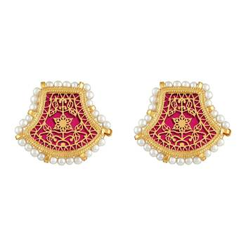 Ethnic Gold Plated Stud Earring For Women