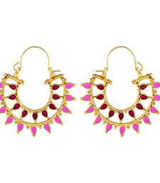 Pretty Gold Plated Hoop Earring For Women