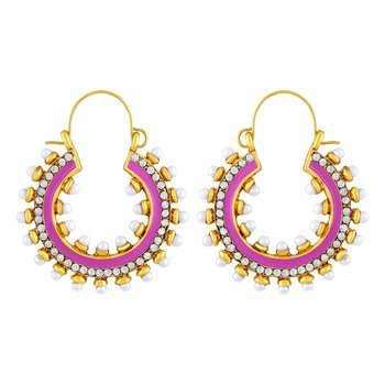 Royal Gold Plated Hoop Earring For Women