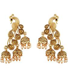 Fancy Gold Kundan Gold Plated Jhumki Earring For Women