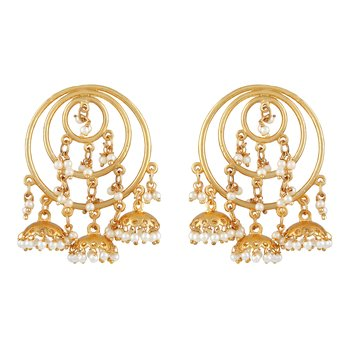 Modern Gold Plated Jhumki Earring For Women