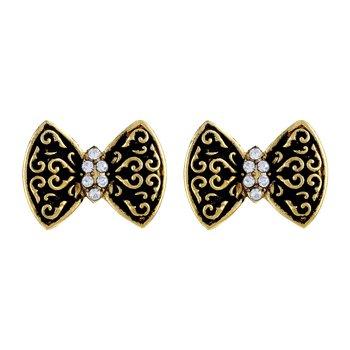 Eye Catchy Butterfly Shape Gold Plated Stud Earring For Women