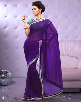 Full Dyed Chiffon Sari Ecocity205