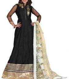 Buy Black embroidered georgette salwar festive-salwar-suit online