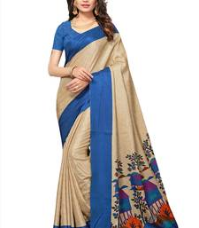 Buy Beige printed manipuri silk saree with blouse manipuri-silk-saree online