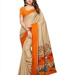 Buy Beige printed manipuri silk saree with blouse women-ethnic-wear online