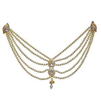 White pearl brooch
