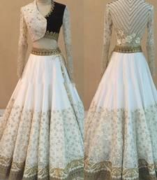 Buy white net designer heavy work lehenga with dupatta lehenga-choli online