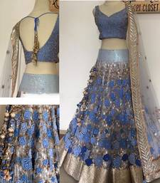 Buy dark lavender net designer heavy work lehenga with dupatta lehenga-choli online