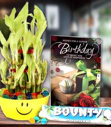 Buy Birthday Greeting Card, Good Luck Plant with Bounty Chocolate thanksgiving-gift online
