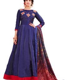 Buy Blue fancy bhagalpuri silk salwar bhagalpuri-silk-salwar-kameez online
