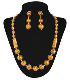 Buy Masterstroke Gold plated Gantha necklace-set online