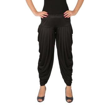 Black plain Lycra free size patialas pants