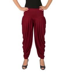 Pink plain Lycra free size patialas pants